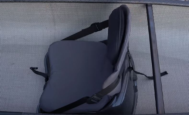 Lumbar support for canoe