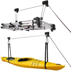 kayak storage pulley system
